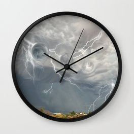 Arrival of the Monsoon Storm Generator Wall Clock