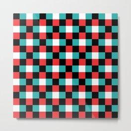 Pixeled Squares Metal Print