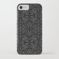 gray pattern iPhone & iPod Cases featuring Slate Gray Black Pattern by 2sweet4words Designs
