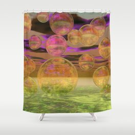 Peace in the Storm - Abstract Bronze Tranquility Shower Curtain