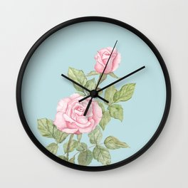 Garden Roses in Bloom Wall Clock