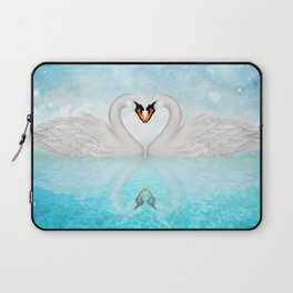 Heart of Swans #10 Laptop Sleeve