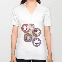 starwars V-neck T-shirts featuring StarWars BB8 by Joshua A. Biron