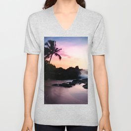 Paako Beach Sunset Jewels Unisex V-Neck