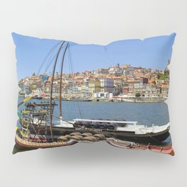 Port wine barges on the Douro Pillow Sham