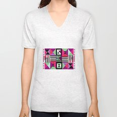 Violet Triangulation Unisex V-Neck