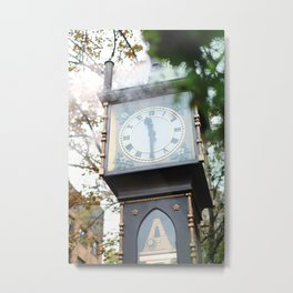 357. Gastown Steam Clock and Smoke, Vancouver, Canada Metal Print