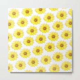 Sunflowers On White Metal Print