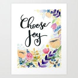 Choose Joy Floral Art Print