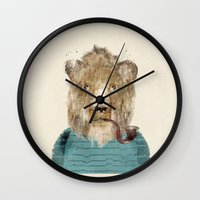 jeep Wall Clocks featuring jeep the lion by bri.buckley
