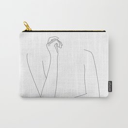 Woman's arms minimal illustration - Zoe Carry-All Pouch