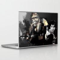 han solo Laptop & iPad Skins featuring Han Solo & Chewbacca by Berta Merlotte