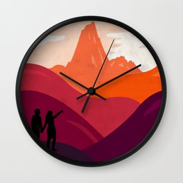 End of the journey Wall Clock