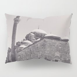 Istanbul mosque photo, black & white fine art, Turkey photography, Middle East Pillow Sham
