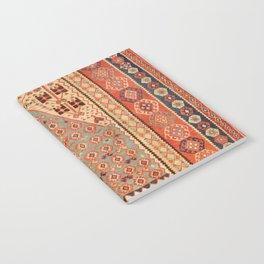 Antique Erzurum Turkish Kilim Rug Print Notebook