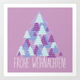 Christmas card Tree Art Print