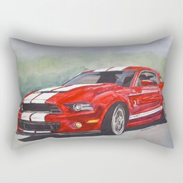 Red Cobra Rectangular Pillow