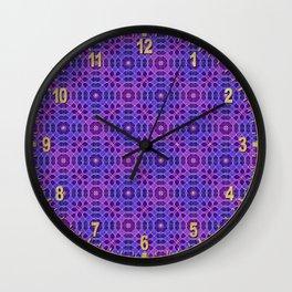 PURPLE PANACHE PATTERN Wall Clock