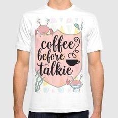 Coffee before Talkie - Coffee Lovers Cute Crabs Mens Fitted Tee MEDIUM White
