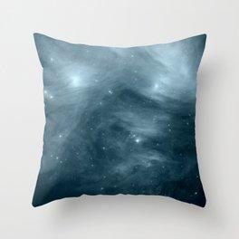 Galaxy : Pleiades Star Cluster NeBula Steel Blue Throw Pillow