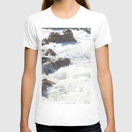 White water, dark rocks T-shirt
