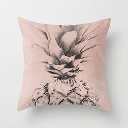 Pink Pinapple Throw Pillow