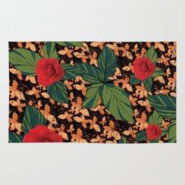 rose with dandelion - variant Rug