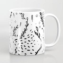 doodle and plants,seamless pattern Coffee Mug