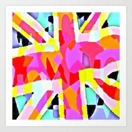 Mark Edz Abstract Union (Jack) CopyCat 2021 Art Print