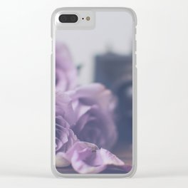 Photogenic Purple Roses Clear iPhone Case