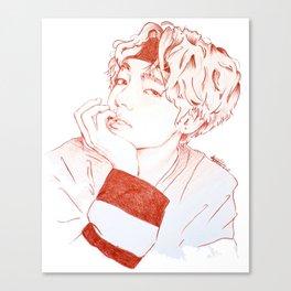 Taehyung with sanguine pencil Canvas Print