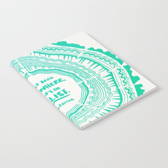 My List – Turquoise Ombré Notebook