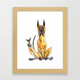 Great Dane and Chihuahua Framed Art Print