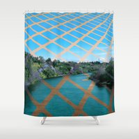river Shower Curtains featuring River by Last Call