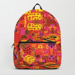 Boho Patchwork in Warm Tones Backpack