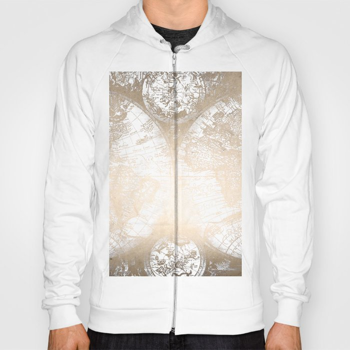 Antique white gold world map hoody by naturemagick society6 antique white gold world map hoody gumiabroncs Image collections