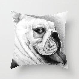 The English Bull Dog Throw Pillow