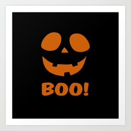 Boo! (Halloween) Art Print