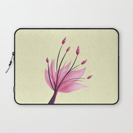 Pink Abstract Water Lily Flower Laptop Sleeve