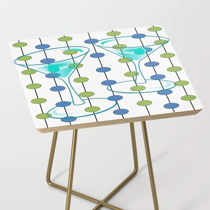 Mid-Century Modern Atomic Art Cocktails 1.0 Side Table