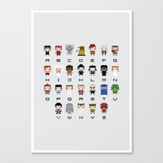 Doctor Who Alphabet Canvas Print