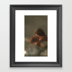 One more moment Framed Art Print