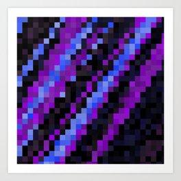 Purple Blue and Black Art Print