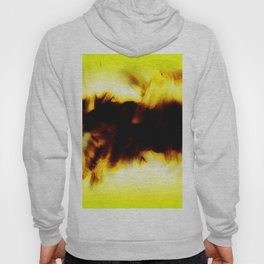 Hole In My Heart Black White Yellow Abstract Hoody