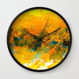 Morning Sun Glow Circle Pattern Abstract Wall Clock