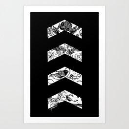 Inverted Chevrons Art Print