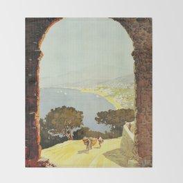 1920s Alassio Italy Throw Blanket