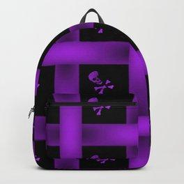 Purple Skull Pattern Backpack