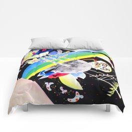 Wassily Kandinsky Circle on Black Comforters