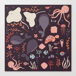 Sea creatures 002 Canvas Print